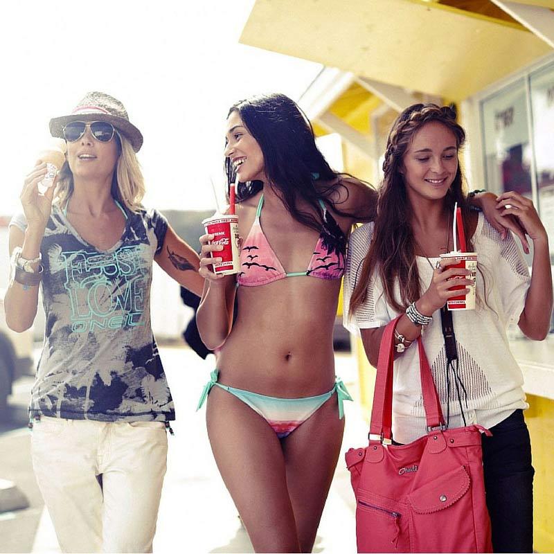 Con le amiche in vacanza
