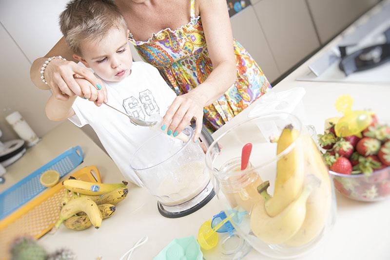 riempi ghiaccioli banane