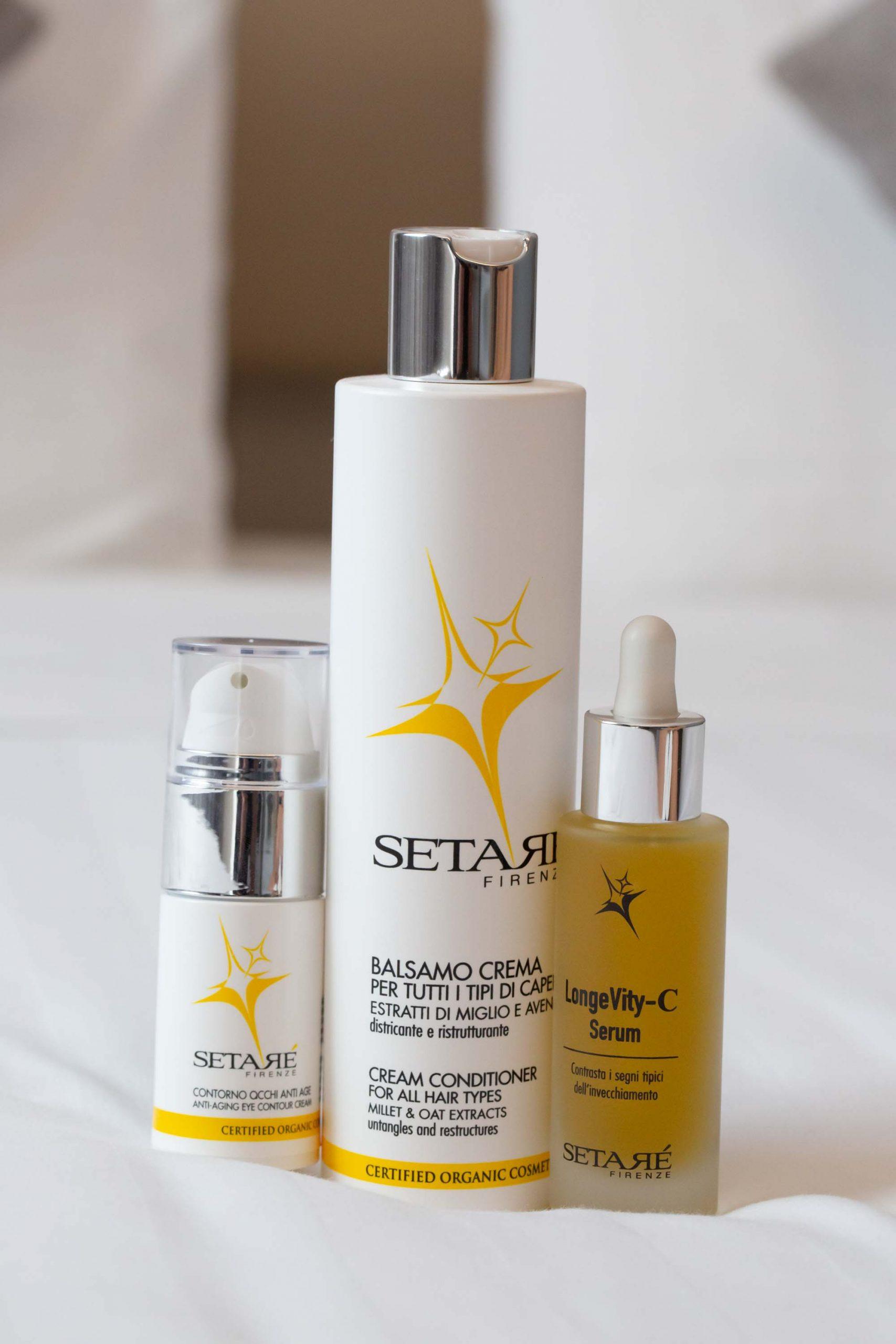 I miei tre prodotti firmati Setaré
